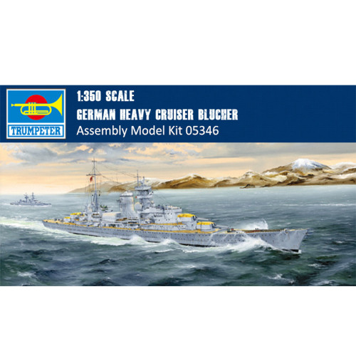Trumpeter 05346 1/350 Scale German Heavy Cruiser Blucher Military Plastic Assembly Model Kit
