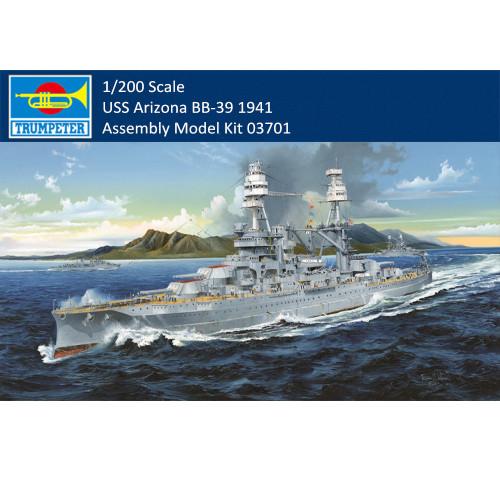 Trumpeter 03701 1/200 Scale USS Arizona BB-39 1941 Assembly Model Kit