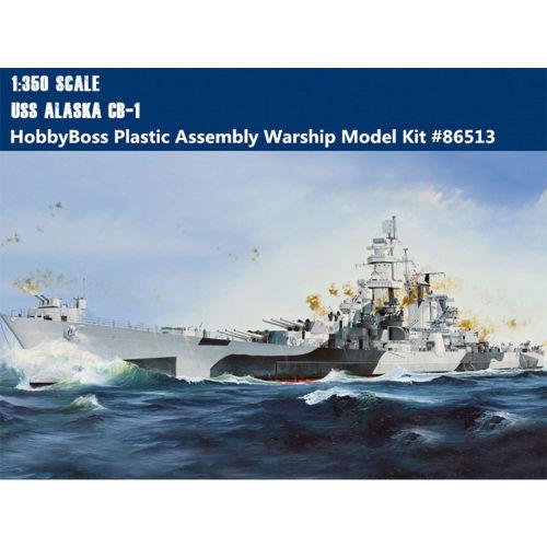 HobbyBoss 86513 1/350 Scale USS Alaska CB-1 Warship Military Assembly Model Kit