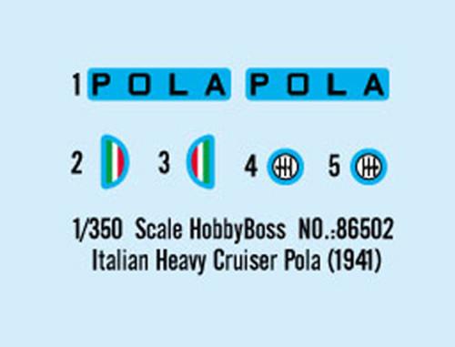 HobbyBoss 86502 1/350 Scale Italian Heavy Cruiser Pola 1941 Military Plastic Assembly Model Building Kits