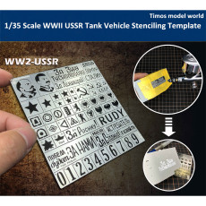 1/35 Scale WWII USSR Tank Vehicle Stenciling Template Model Building Tool AJ0022