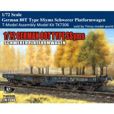 T-Model TK7306 1/72 Scale German 80T Type SSyms Schwerer Platformwagen Assembly Model Kit