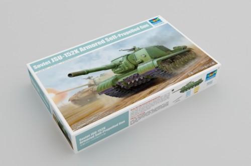 Trumpeter 05591 1/35 Scale Soviet JSU-152K Armored Self-Propelled Gun Military Plastic Assembly Model Kit