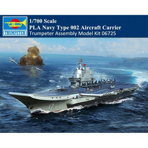 Trumpeter 06725 1/700 Scale PLA Navy Type 002 Aircraft Carrier Military Plastic Assembly Model Kit