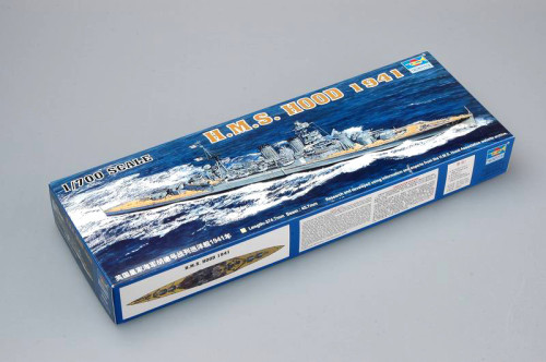 Trumpeter 05740 1/700 Scale HMS HOOD Battleship 1941 Military Plastic Assembly Model Kits