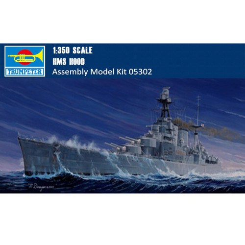Trumpeter 05302 1/350 Scale HMS Battle Cruiser Hood Military Plastic Assembly Model Kits