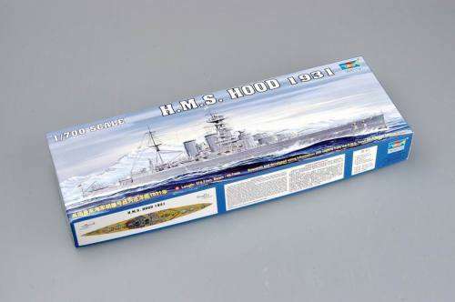 Trumpeter 05741 1/700 Scale HMS HOOD 1931 Military Plastic Assembly Model Kits