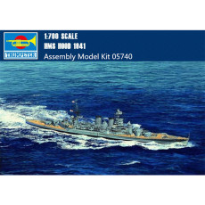 Trumpeter 05740 1/700 Scale HMS HOOD Battleship 1941 Military Plastic Assembly Model Kits