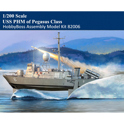 HobbyBoss 82006 1/200 Scale USS PHM of Pegasus Class Hydrofoil Craft Boat Military Plastic Assembly Model Kit
