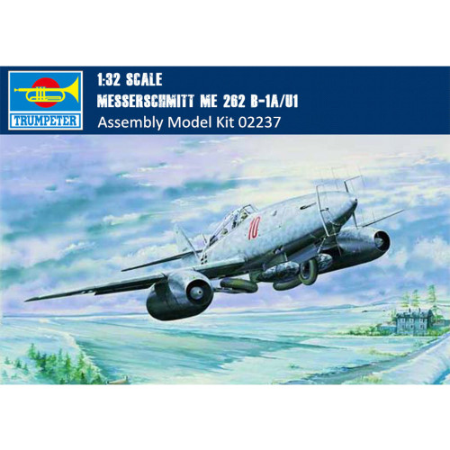 Trumpeter 02237 1/32 Scale Messerschmitt Me 262 B-1a/U1 Fighter Military Aircraft Assembly Model Kits
