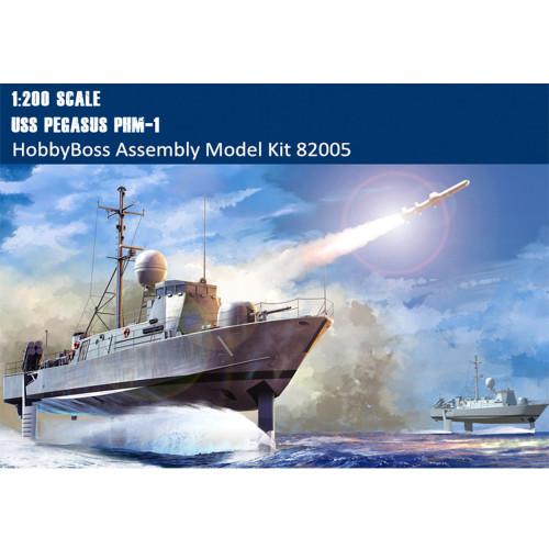 HobbyBoss 82005 1/200 Scale USS Pegasus PHM-1 Hydrofoil Craft Boat Military Plastic Assembly Model Kit