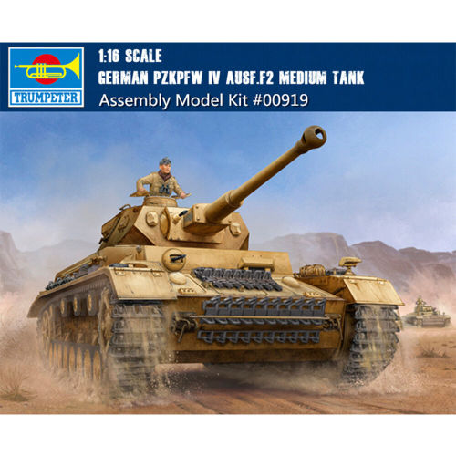 Trumpeter 00919 1/16 Scale German Pzkpfw IV Ausf.F2 Medium Tank Military Plastic Assembly Model Kit