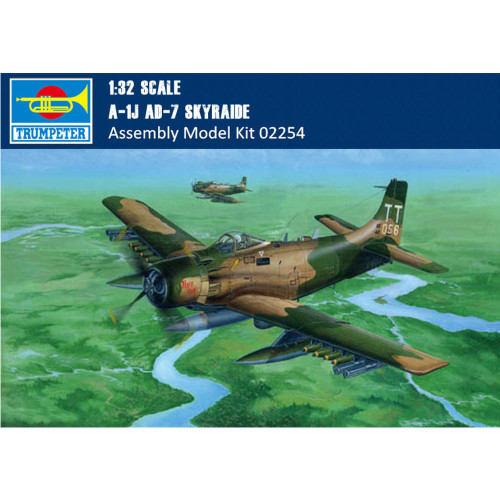 Trumpeter 02254 1/32 Scale A-1J AD-7 Skyraider Military Plastic Aircraft Assembly Model Kit