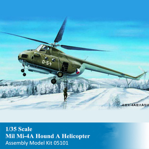 Trumpeter 05101 1/35 Scale Mil Mi-4A Hound A Helicopter Military Plastic Aircraft Assembly Model Kits
