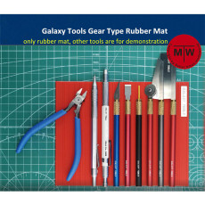Galaxy Tools Gear Type Rubber Mat Pad for Model Hobby Tools black/red/grey/blue 4 colors