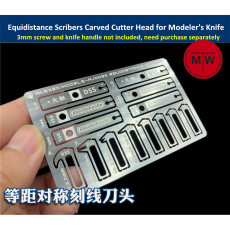 Equidistance Scribers Symmetrical Engraving Surface Groove Carved Cutter Head 8 in 1 Tools for Gundam Military Model Hobby Kit AJ0030