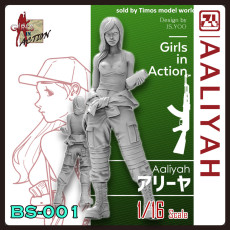 ZLPLA Genuine 1/16 Scale Girls in Action Aaliyah Resin Figure Assembly Model BS-001