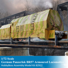HobbyBoss 82922 1/72 Scale German Panzerlok BR57 Armoured Locomotive Military Plastic Assembly Model Kits