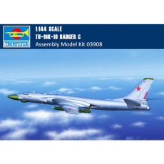 Trumpeter 03908 1/144 Scale Tu-16k-10 Badger C Bomber Military Plastic Assembly Aircraft Model Kits