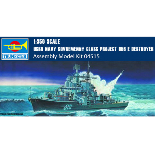 Trumpeter 04515 1/350 Scale USSR Navy Sovremenny Class Project 956 E Destroyer Military Plastic Assembly Model Kit