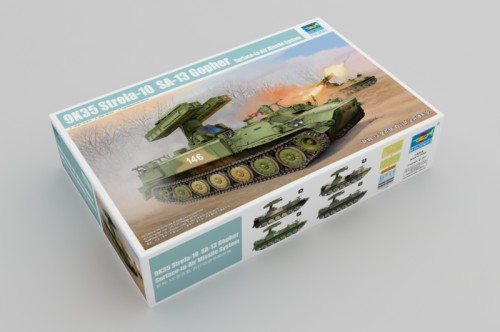 Trumpeter 05554 1/35 Scale 9K35 Strela-10 SA-13 Gopher Surface-to-Air Missile System Military Plastic Assembly Model Kit