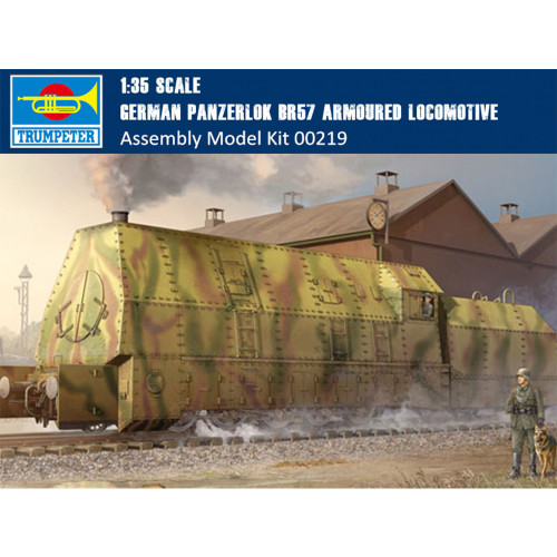 Trumpeter 00219 1/35 Scale German Panzerlok BR57 Armoured Locomotive Military Plastic Assembly Model Kits