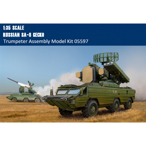 Trumpeter 05597 1/35 Scale Russian SA-8 GECKO Military Plastic Assembly Model Kit