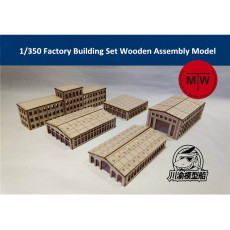 1/350 Scale Factory Building Set Harbor Shipyard Dockyard Scene DIY Wooden Assembly Model TMW00021