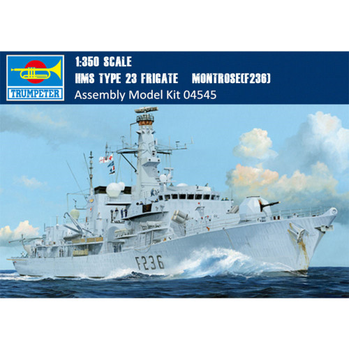 Trumpeter 04545 1/350 Scale HMS TYPE 23 Frigate – Montrose(F236) Military Plastic Assembly Ship Model Kits