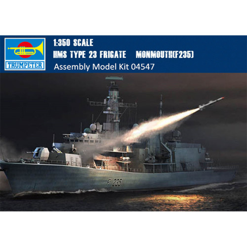 Trumpeter 04547 1/350 Scale HMS TYPE 23 Frigate – Monmouth(F235) Military Plastic Assembly Ship Model Kits