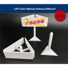 1/87 Scale Highway Railway Billboard Scene DIY Model TMW00022