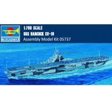 Trumpeter 05737 1/700 Scale USS Hancock CV-19 Aircraft Carrier Military Plastic Assembly Model Kits