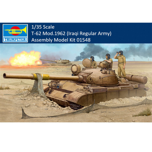 Trumpeter 01548 1/35 Scale T-62 Mod.1962 (Iraqi Regular Army) Military Plastic Tank Assembly Model Kits