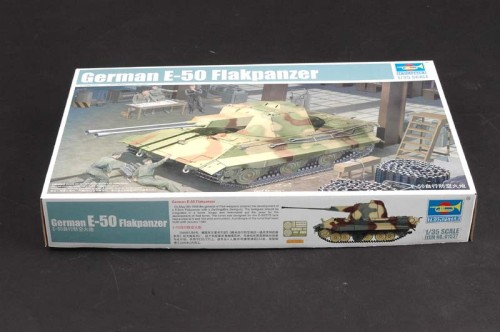 Trumpeter 01537 1/35 Scale German E-50 Flakpanzer Military Plastic Assembly Model Building Kits