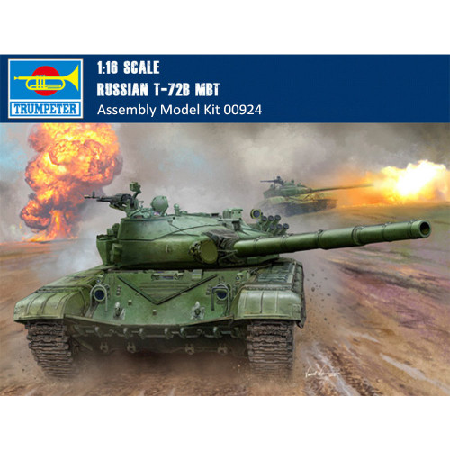 Trumpeter 00924 1/16 Scale Russian T-72B MBT Military Plastic Tank Assembly Model Kits
