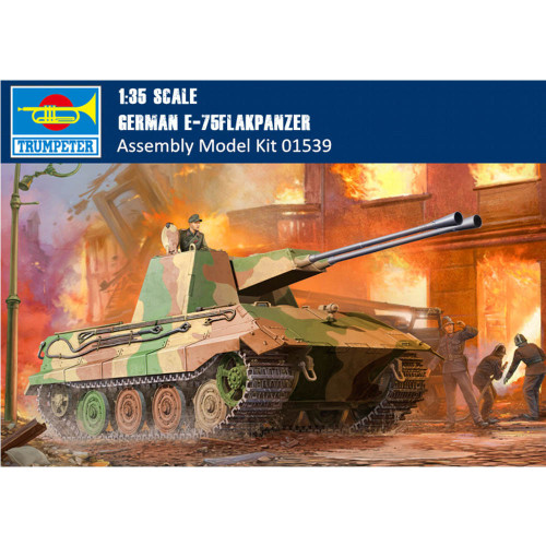 Trumpeter 01539 1/35 Scale German E-75 Flakpanzer Military Plastic Assembly Model Building Kits