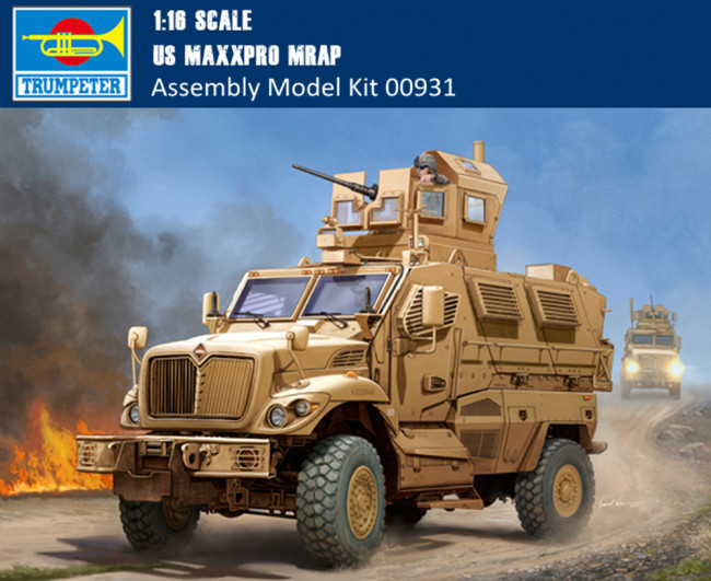 Trumpeter 00931 1/16 Scale US MaxxPro MRAP Military Plastic Assembly Model Kits