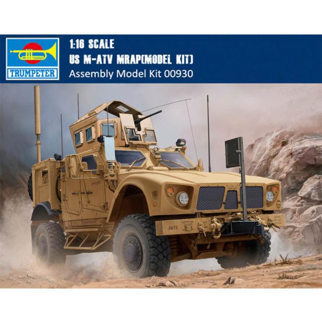 Trumpeter 00930 1/16 Scale US M-ATV MRAP Military Plastic Assembly Model Kits