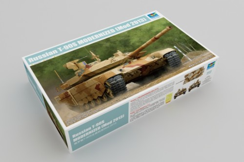 Trumpeter 09524 1/35 Scale Russian T-90S Modernized (Mod 2013) Military Tank Assembly Model Kits