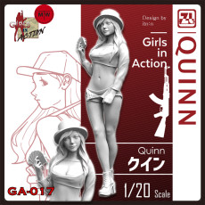 ZLPLA Genuine 1/20 Scale Quinn Girls in Action Resin Figure Assembly Model Kit GA-017