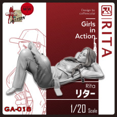 ZLPLA Genuine 1/20 Scale Rita Girls in Action Resin Figure Assembly Model Kits Unpainted GA-018