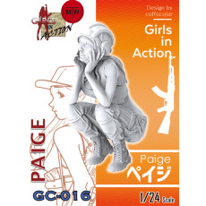 ZLPLA Genuine 1/24 Scale Resin Figure Peige Girls in Action Assembly Model Kits GC-016