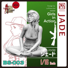 ZLPLA Genuine 1/16 Scale Resin Figure Jade Girls In Action Assembly Model Kits BS-003