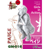 ZLPLA Genuine 1/35 Scale Resin Figure Peige Girls in Action Assembly Model Kits GM-016