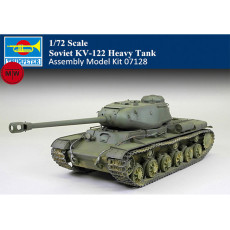 Trumpeter 07128 1/72 Scale Soviet KV-122 Heavy Tank Military Plastic Assembly Model Kits