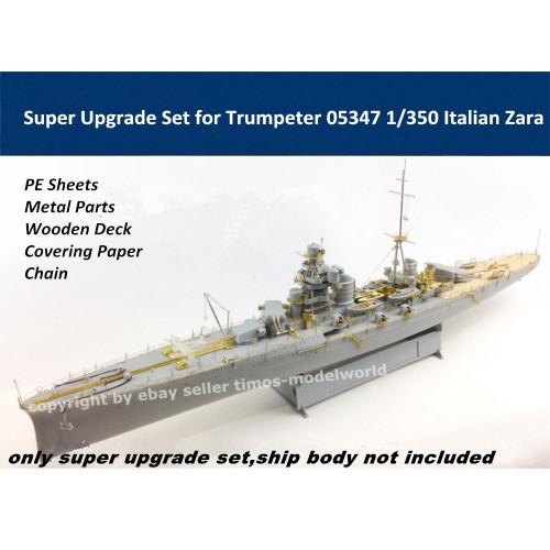Super Upgrade Set for Trumpeter 05347 1/350 Scale Italian Zara Assembly Model Kit S350003