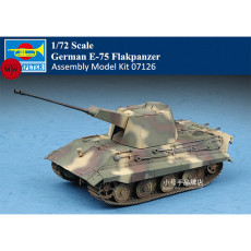 Trumpeter 07126 1/72 Scale German E-75 Flakpanzer Military Plastic Assembly Model Kits
