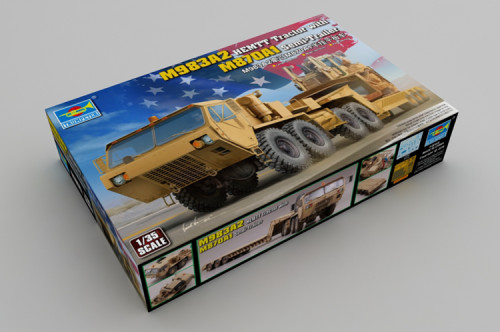 Trumpeter 01055 1/35 Scale M983A2 HEMTT Tractor w/M870A1 Semi-Trailer Military Plastic Assembly Model Kits