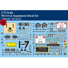 T-Model TK72015 1/72 Scale US M1114 & Equipment Model Decal Set