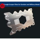 Alexen Model C-angle Scraper Plate Edge Repair Tools for Gundam and Armor Military Model Hobby Craft Kits AJ0060